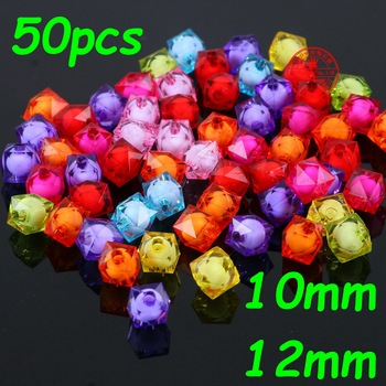 50Pcs 10mm 12mm Hot New Crystal Glass Loose Beads for Kids Children Resin Sewing Jewelry Making & DIY Bracelet necklace Clothes
