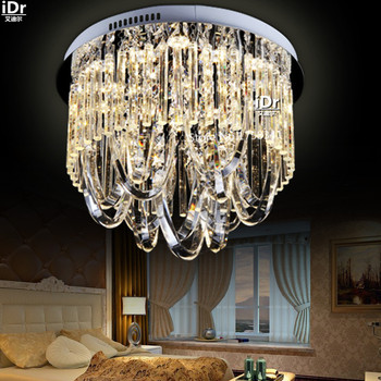 Crystal modern minimalist restaurant lamp bedroom lamp creative LED ring lights lamp Ceiling Lights Rmy-0350