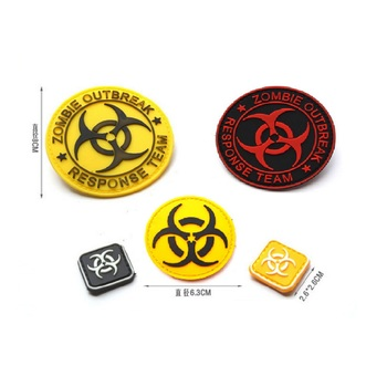 3D PVC glue armband loop and hook Resident Evil series patches RESPONSE TEAM ZOMBIE OUTBREAK patches badge armband